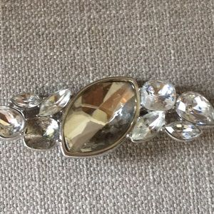 YSL vintage pin with stones